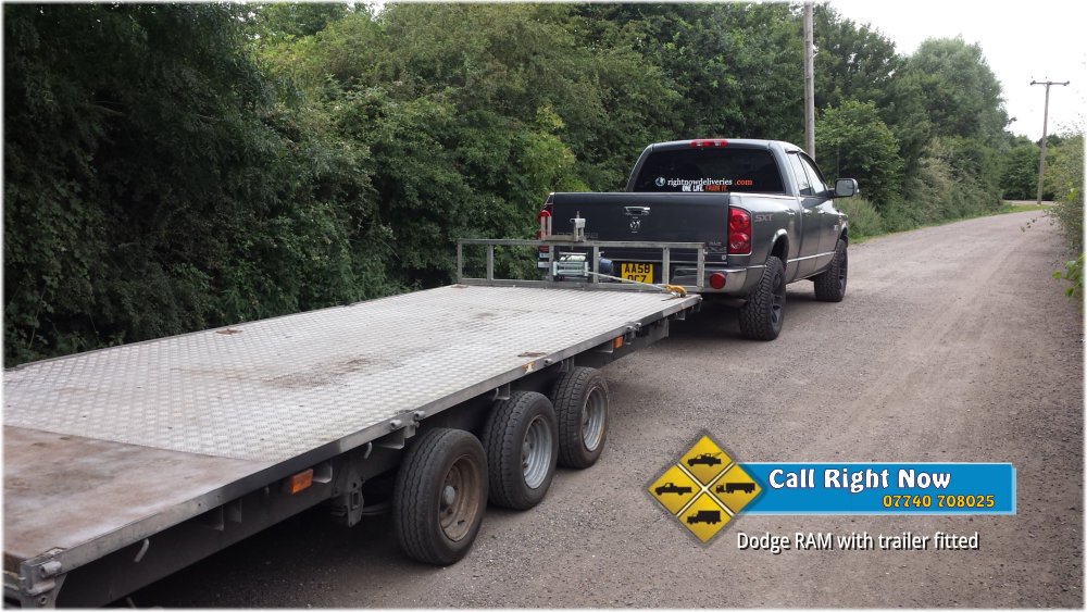 Right Now Deliveries - Dodge Ram with Trailer